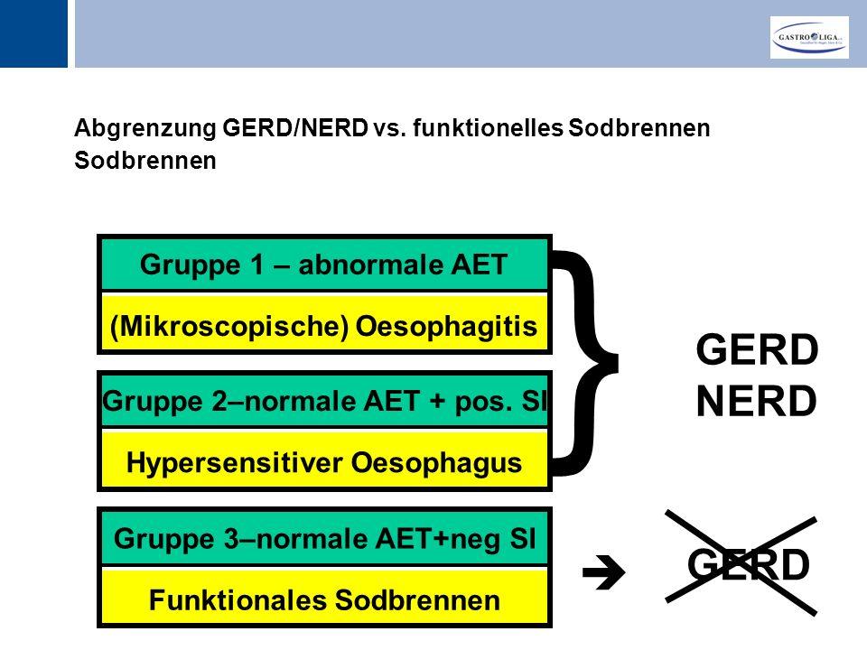 Titel Abgrenzung GERD/NERD vs.