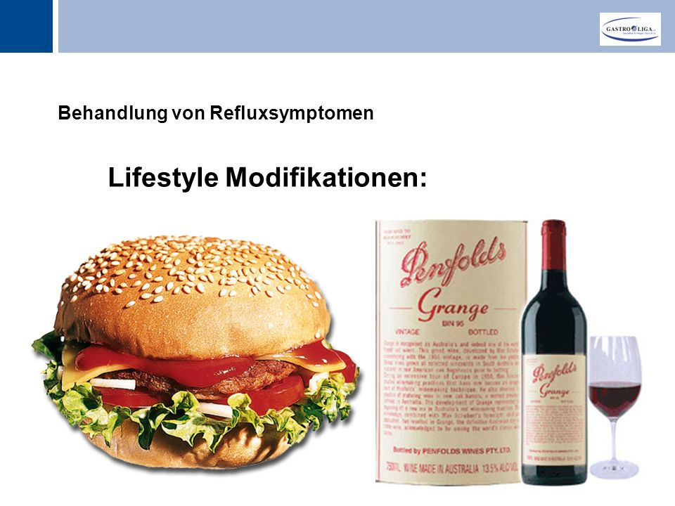Titel Behandlung von Refluxsymptomen Lifestyle Modifikationen: