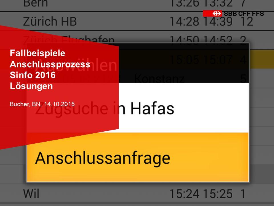 Fallbeispiele Anschlussprozess Sinfo 2016 Lösungen Bucher, BN, 14.10.2015