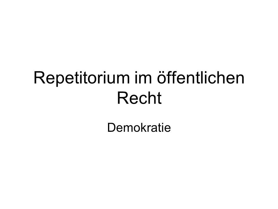 Repetitorium im öffentlichen Recht Demokratie