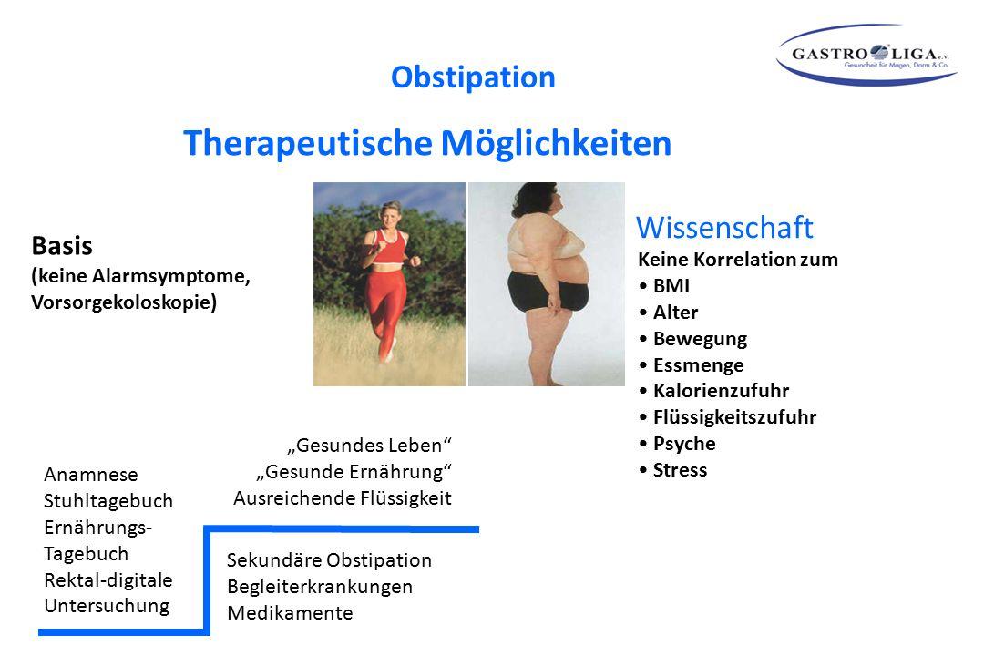 """""""Gesundes Leben"""" """"Gesunde Ernährung"""" Ausreichende Flüssigkeit Sekundäre Obstipation Begleiterkrankungen Medikamente Basis (keine Alarmsymptome, Vorsor"""