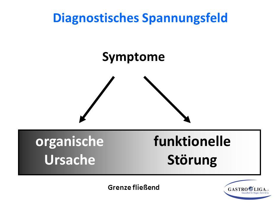 Diagnostisches Spannungsfeld Symptome organische Ursache funktionelle Störung Grenze fließend