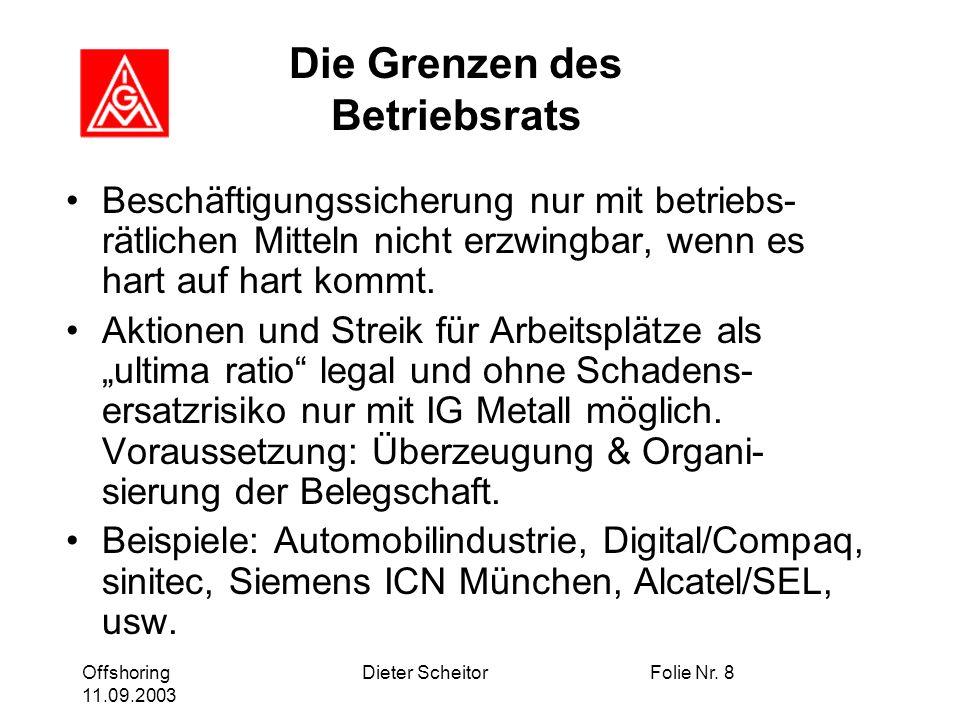 Offshoring 11.09.2003 Dieter ScheitorFolie Nr.