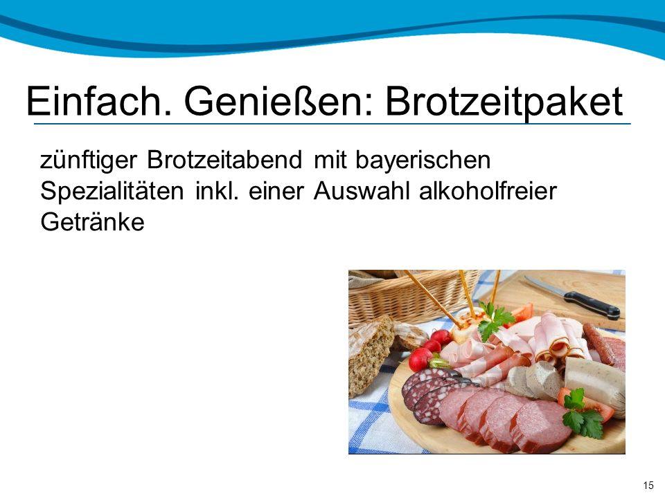 Einfach. Genießen: Brotzeitpaket zünftiger Brotzeitabend mit bayerischen Spezialitäten inkl.