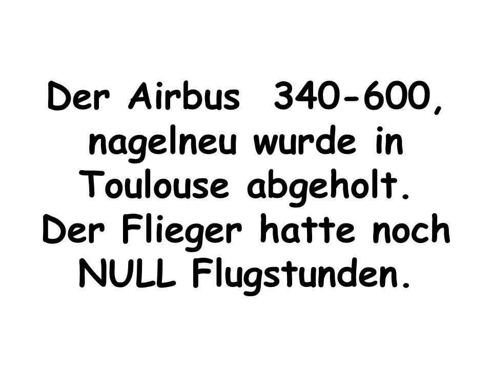 """Der nachfolgende Airbus 340-600, wurde von einer arabischen Crew schlicht und einfach """"geschrottet."""""""