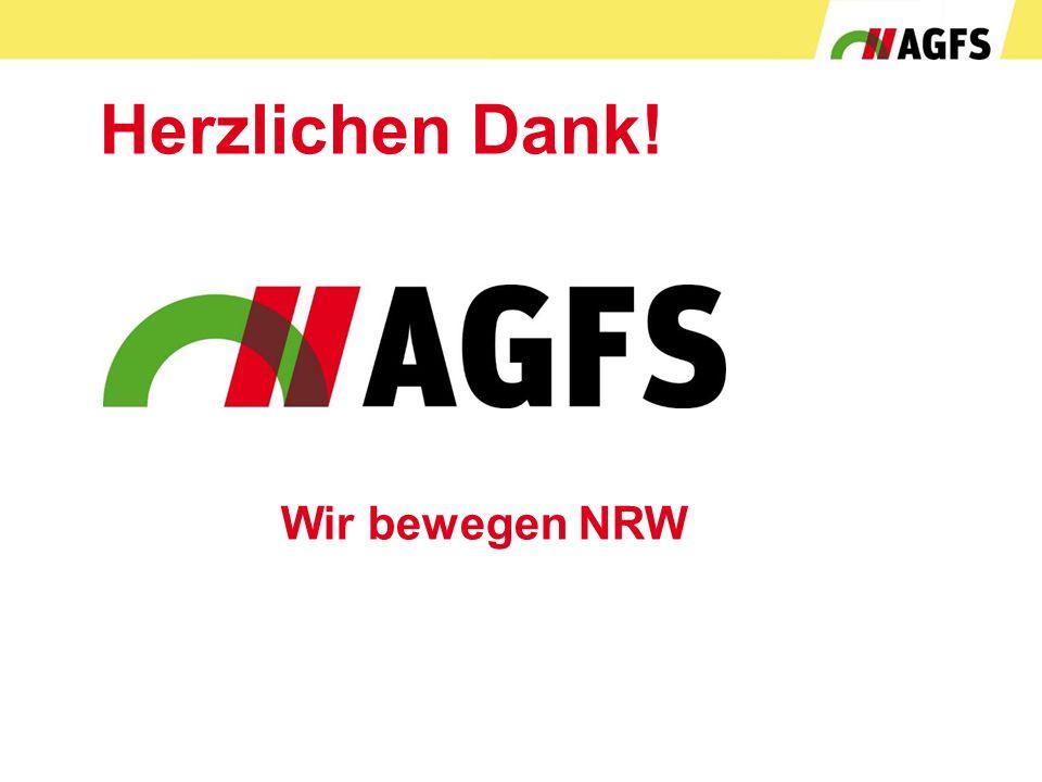Herzlichen Dank! Wir bewegen NRW