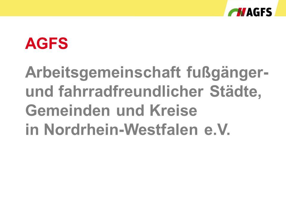 AGFS Arbeitsgemeinschaft fußgänger- und fahrradfreundlicher Städte, Gemeinden und Kreise in Nordrhein-Westfalen e.V.