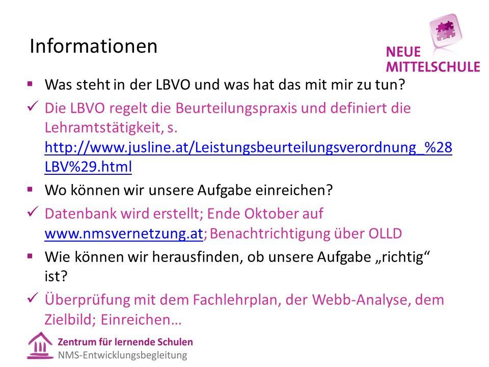 Informationen  Was steht in der LBVO und was hat das mit mir zu tun.