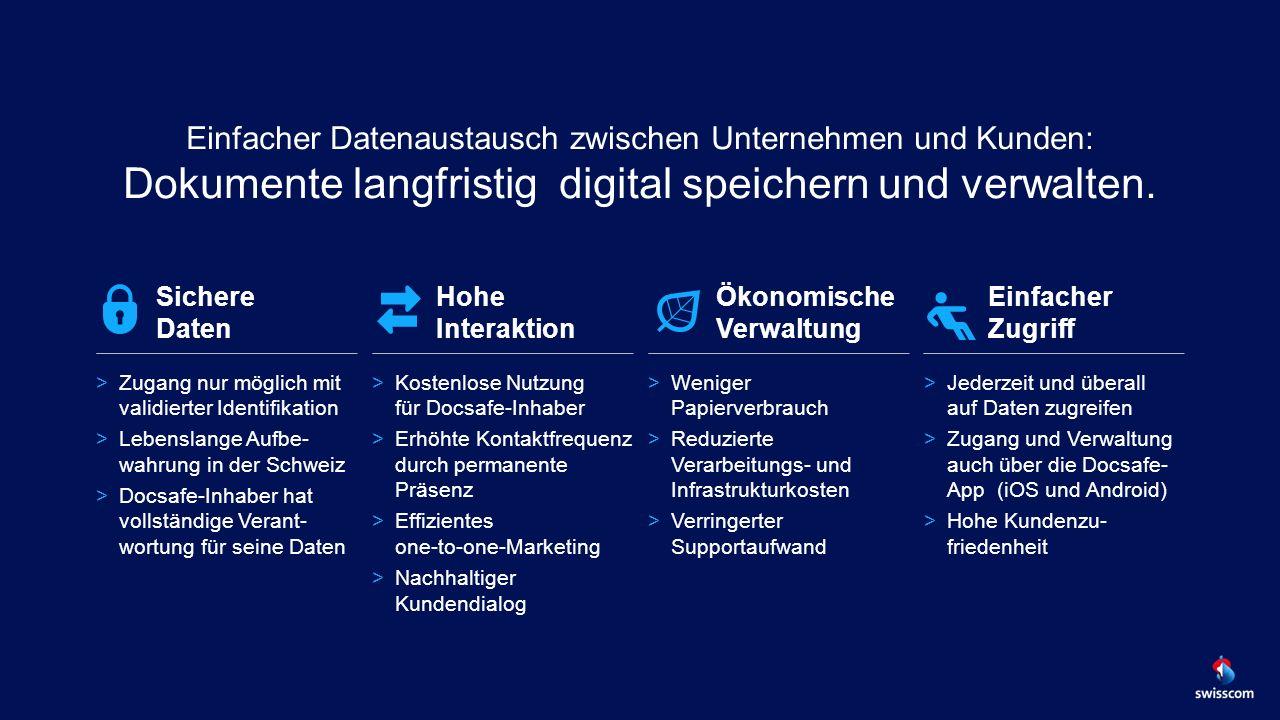 Einfacher Datenaustausch zwischen Unternehmen und Kunden: Dokumente langfristig digital speichern und verwalten.