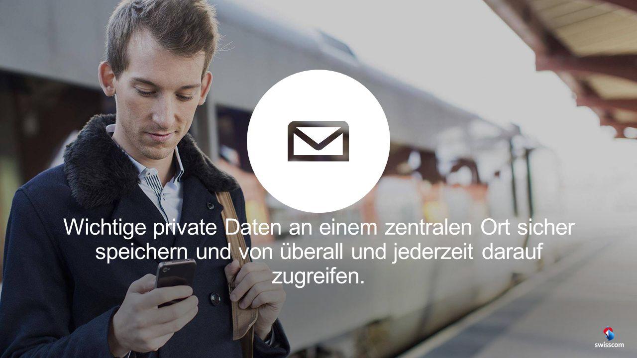 Wichtige private Daten an einem zentralen Ort sicher speichern und von überall und jederzeit darauf zugreifen.