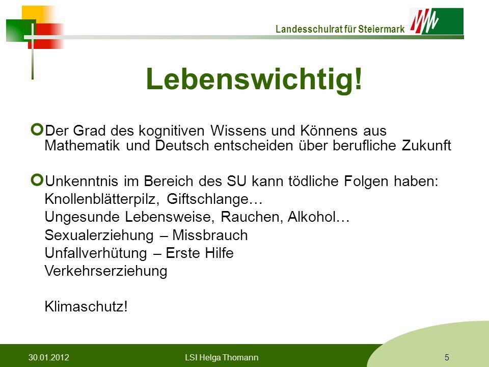 Landesschulrat für Steiermark Formatvorlage © Rene Patak Lebenswichtig.