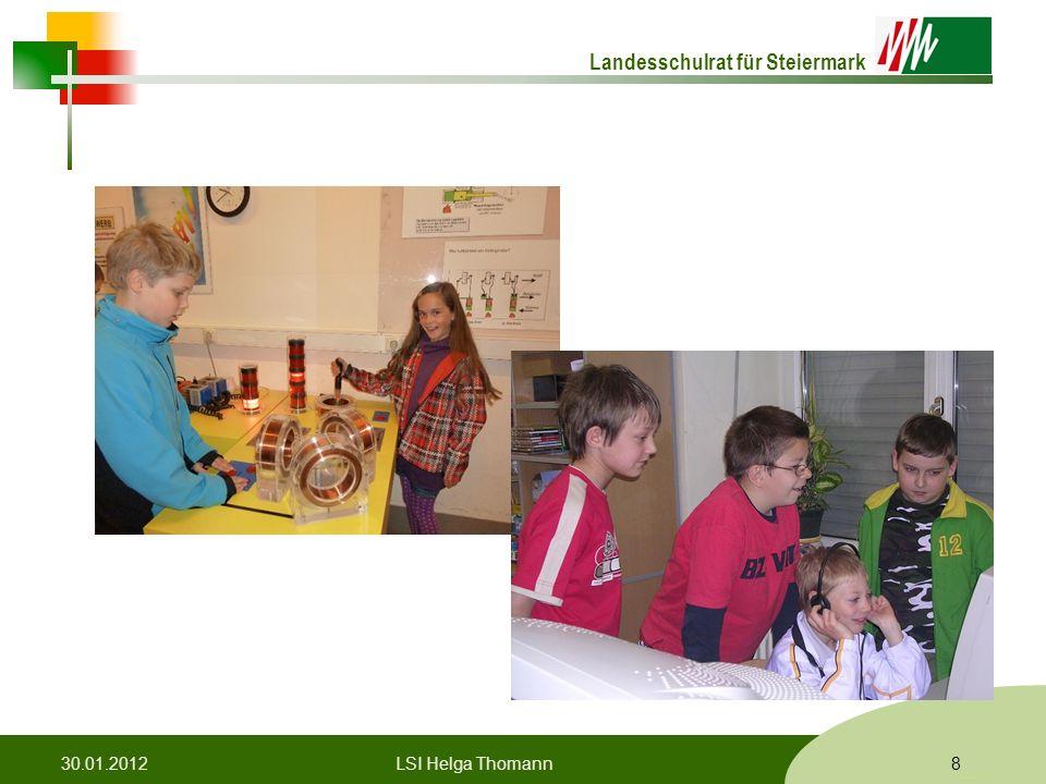 Landesschulrat für Steiermark Formatvorlage © Rene Patak 30.01.20128LSI Helga Thomann