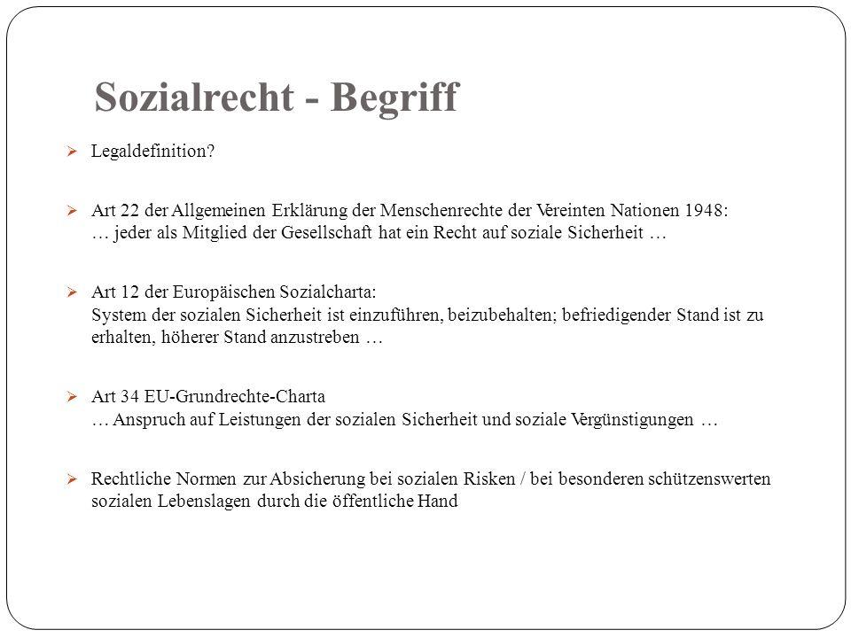 Sozialrecht - Begriff  Legaldefinition.