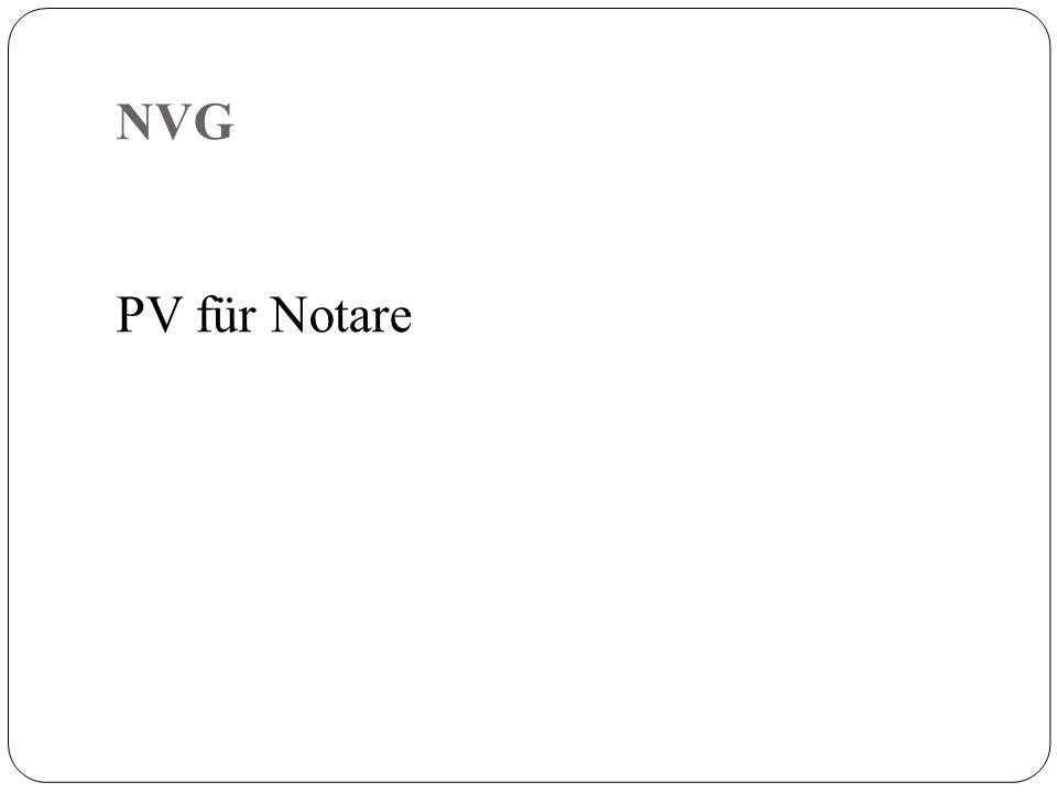 NVG PV für Notare