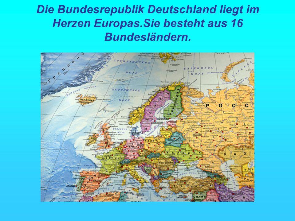Sie ist umgeben von neun Nachbarstaaten: Dänemark im Norden, den Niederlanden,Belgien, Luxemburg und Frankreich im Westen, der Schweiz und Österreich im Süden, von Tschechien und Polen im Osten.