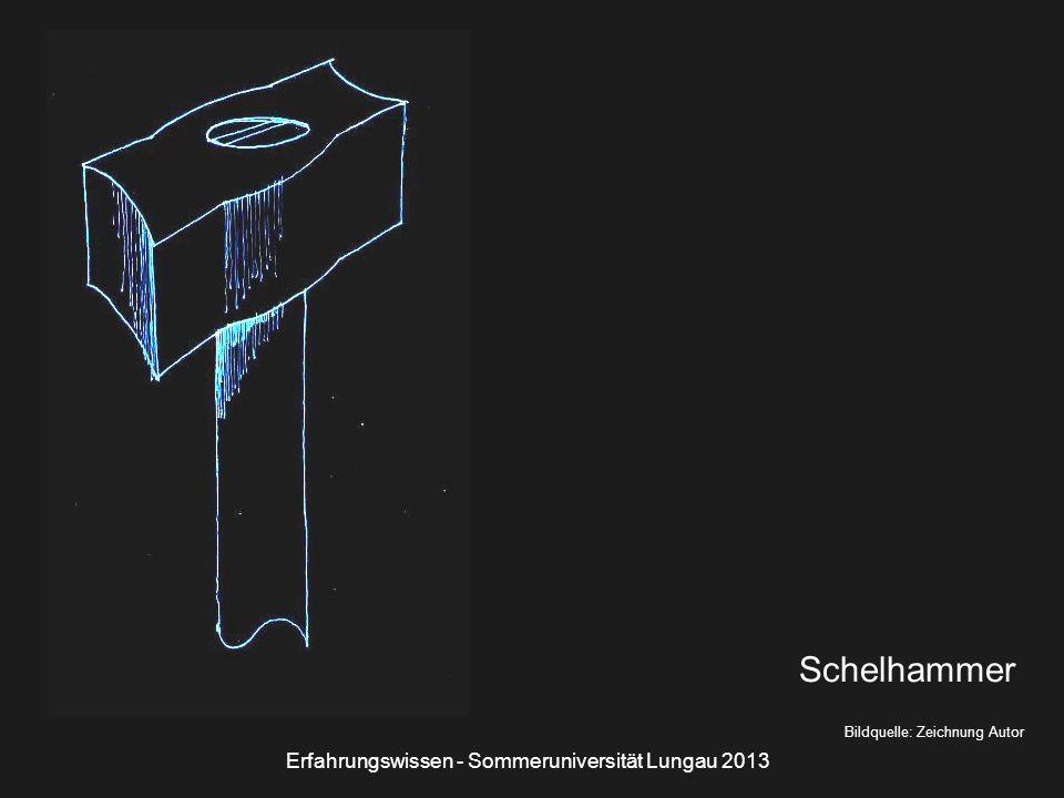 Bildquelle: Zeichnung Autor Schelhammer Erfahrungswissen - Sommeruniversität Lungau 2013