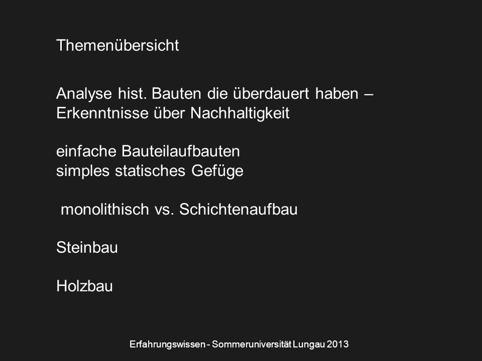 Bildquelle: Foto Autor Holzstöckelboden Erfahrungswissen - Sommeruniversität Lungau 2013