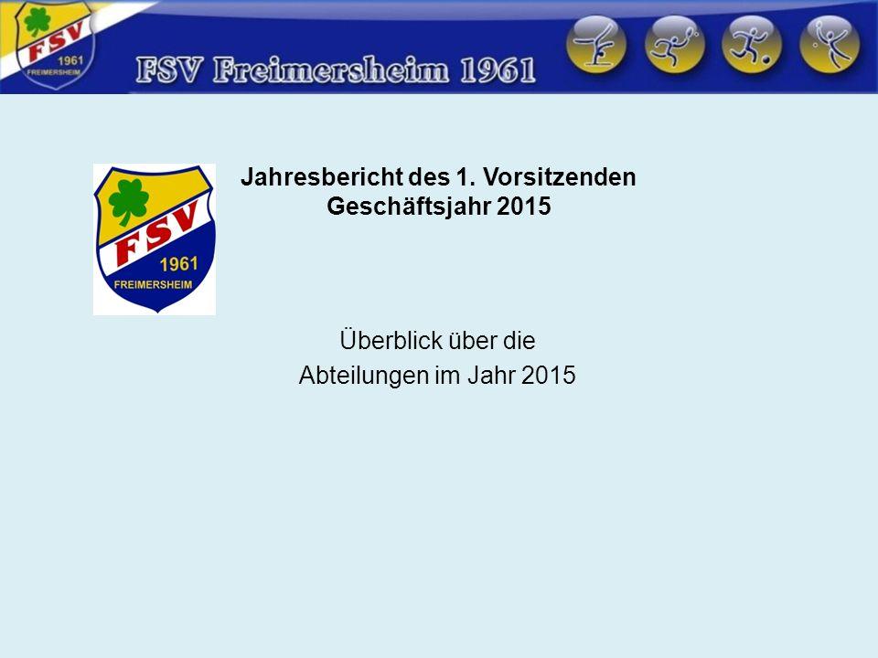 Überblick Abteilungen 2015 Abteilung Fußball 1.