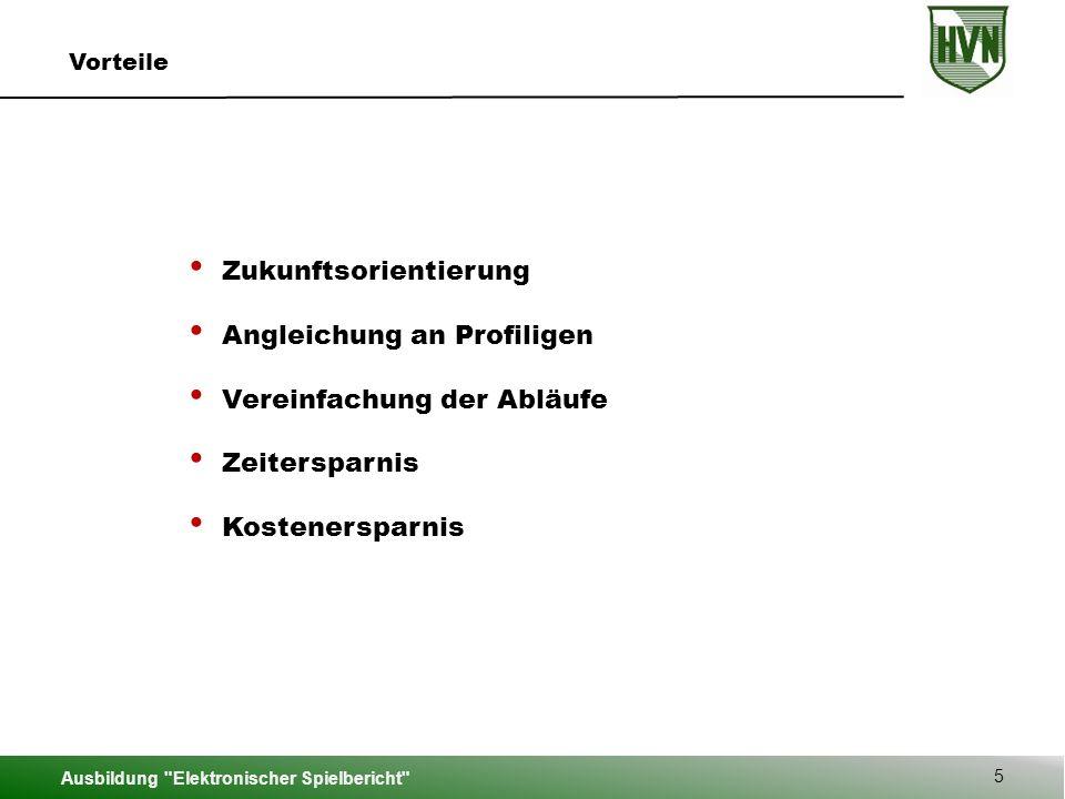 Ausbildung Elektronischer Spielbericht 46 Hauptmenü
