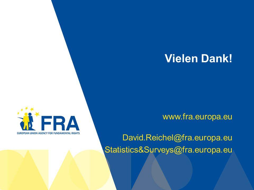 46 Vielen Dank! www.fra.europa.eu David.Reichel@fra.europa.eu Statistics&Surveys@fra.europa.eu