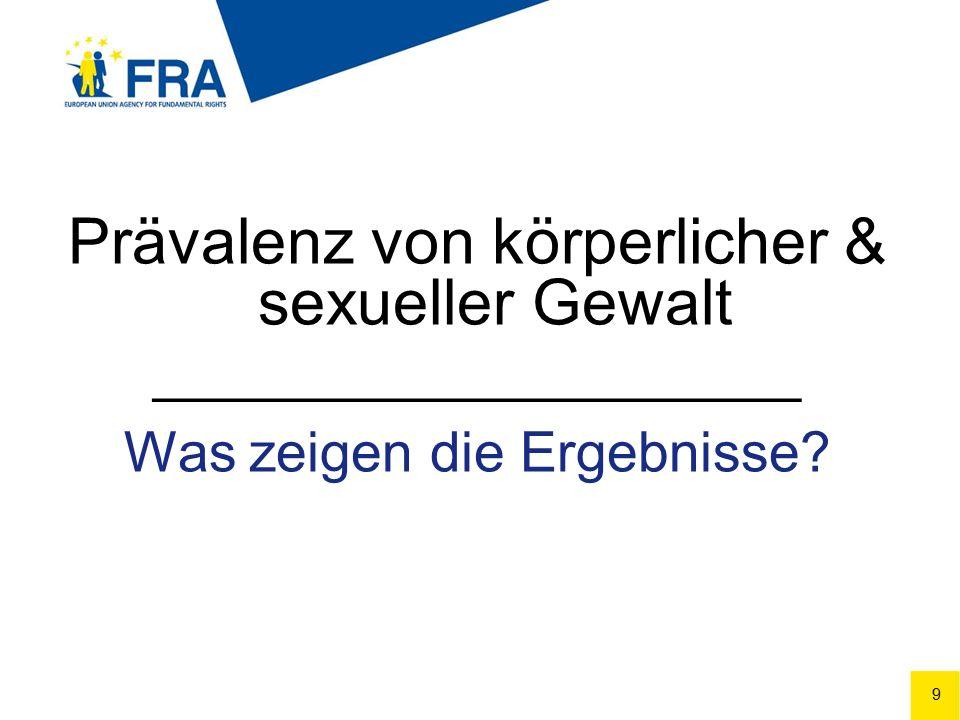 20 Körperliche und/oder sexuelle Gewalt durch PartnerIn (EU-28) Figure 2.1
