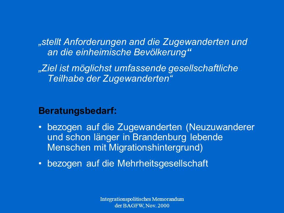 Anforderungen an Organisations- und Kooperationsstrukturen der MFD → Zusätzlich: aufgrund spezifischen Beratungsbedarfs notwendige Angebote (z.B.
