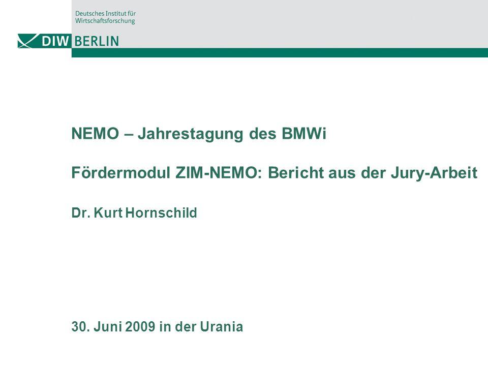 NEMO – Jahrestagung des BMWi Fördermodul ZIM-NEMO: Bericht aus der Jury-Arbeit Dr.