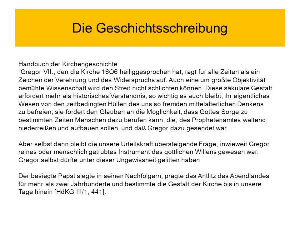 Die Geschichtsschreibung Handbuch der Kirchengeschichte