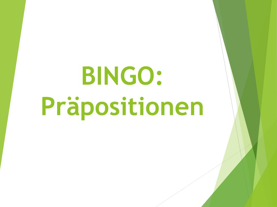 Frage 1 an a. On (horizontal) b. On (vertical) c. On top of d. Next to