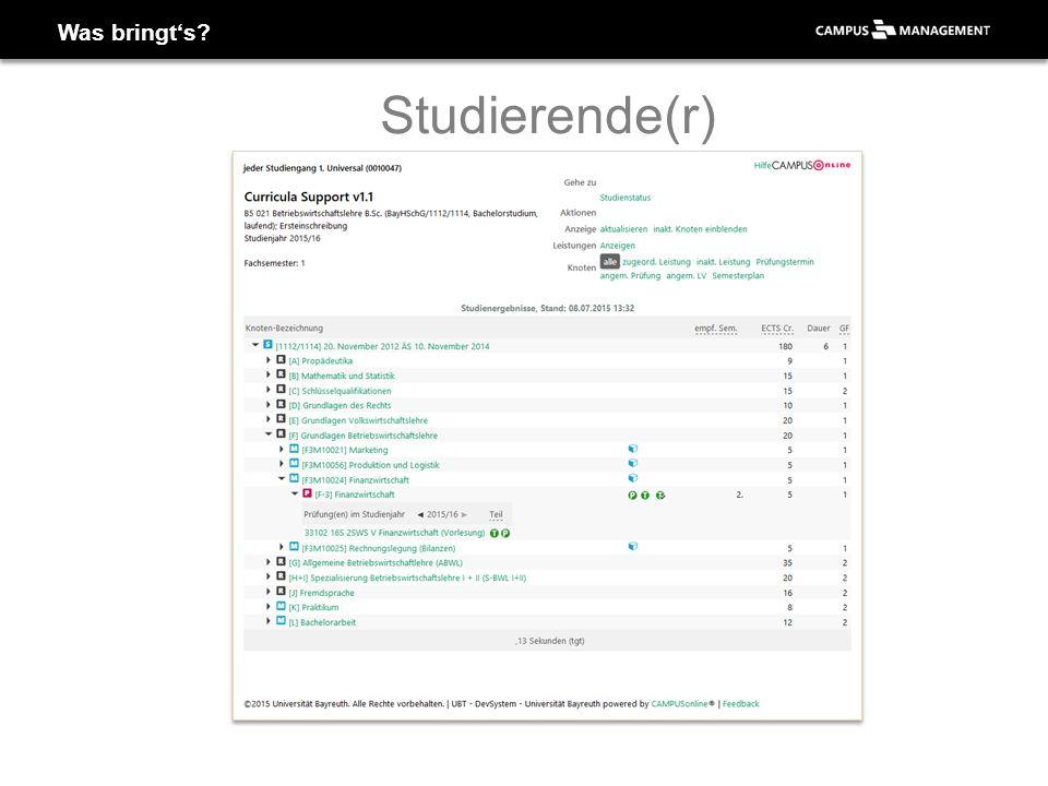 Anmeldung campusonline.uni-bayreuth.de 2 Anmelden mit bt- oder s-Kennung 1 3 Mozilla Firefox wird empfohlen