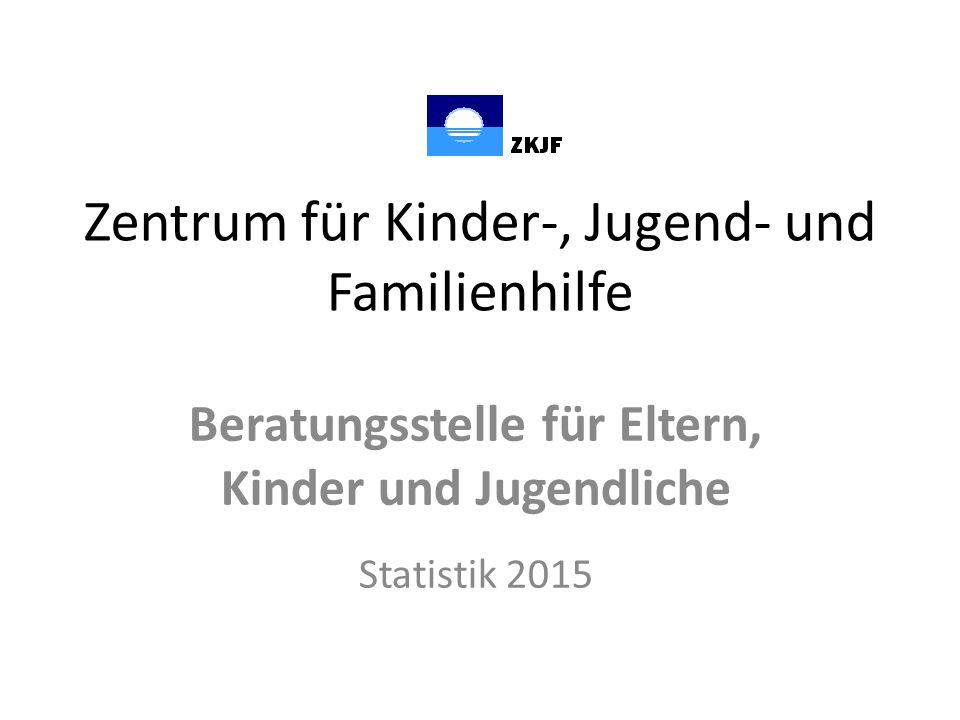 Zentrum für Kinder-, Jugend- und Familienhilfe Beratungsstelle für Eltern, Kinder und Jugendliche Statistik 2015