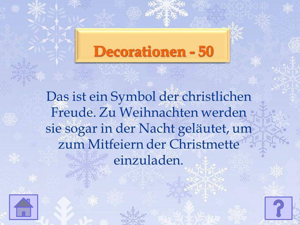 Kultur - 50 Kultur - 50 Das ist ein Symbol der christlichen Freude.