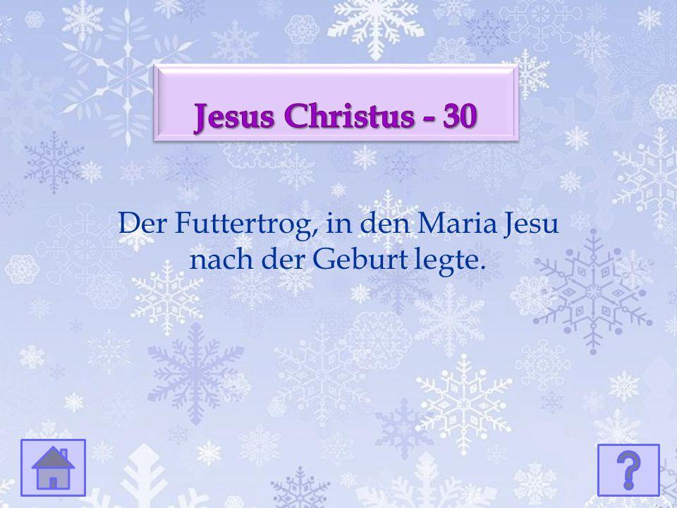 Der Futtertrog, in den Maria Jesu nach der Geburt legte.
