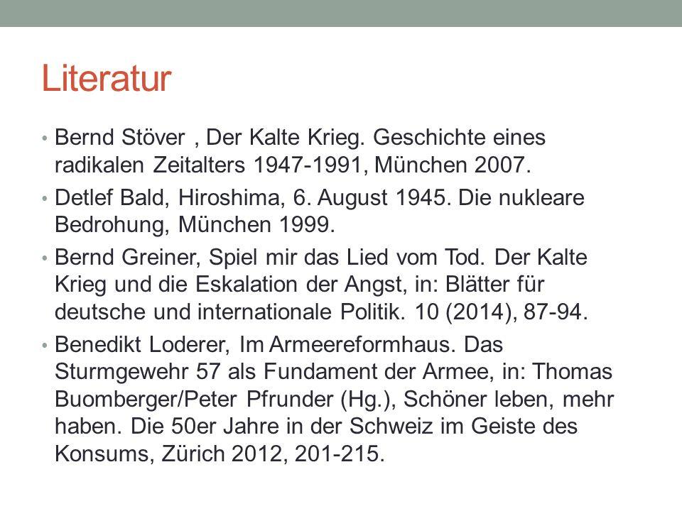 Literatur Bernd Stöver, Der Kalte Krieg.