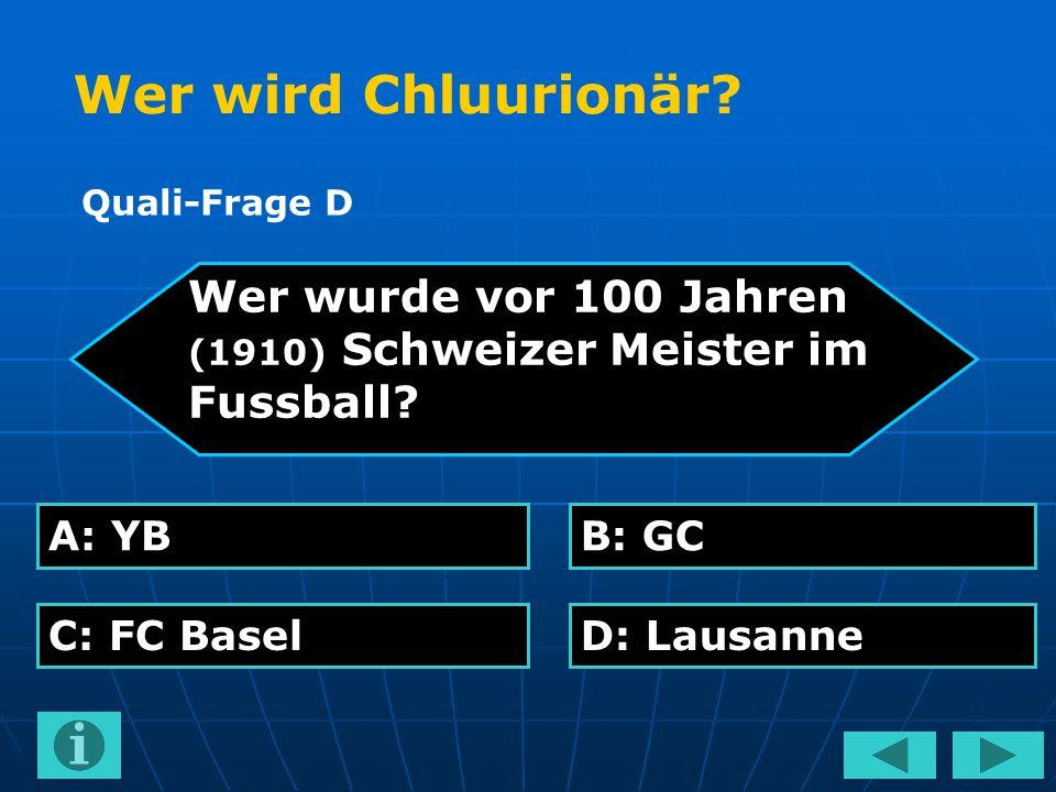 Wer wurde vor 100 Jahren (1910) Schweizer Meister im Fussball.