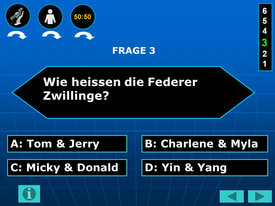 50:50 Wie heissen die Federer Zwillinge.