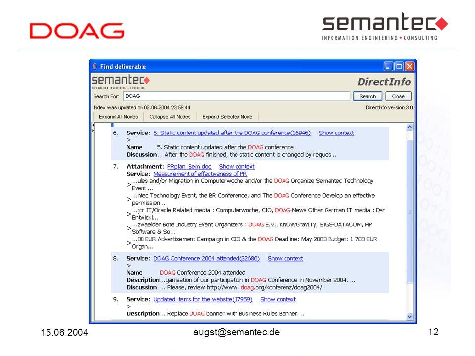 12 15.06.2004 augst@semantec.de