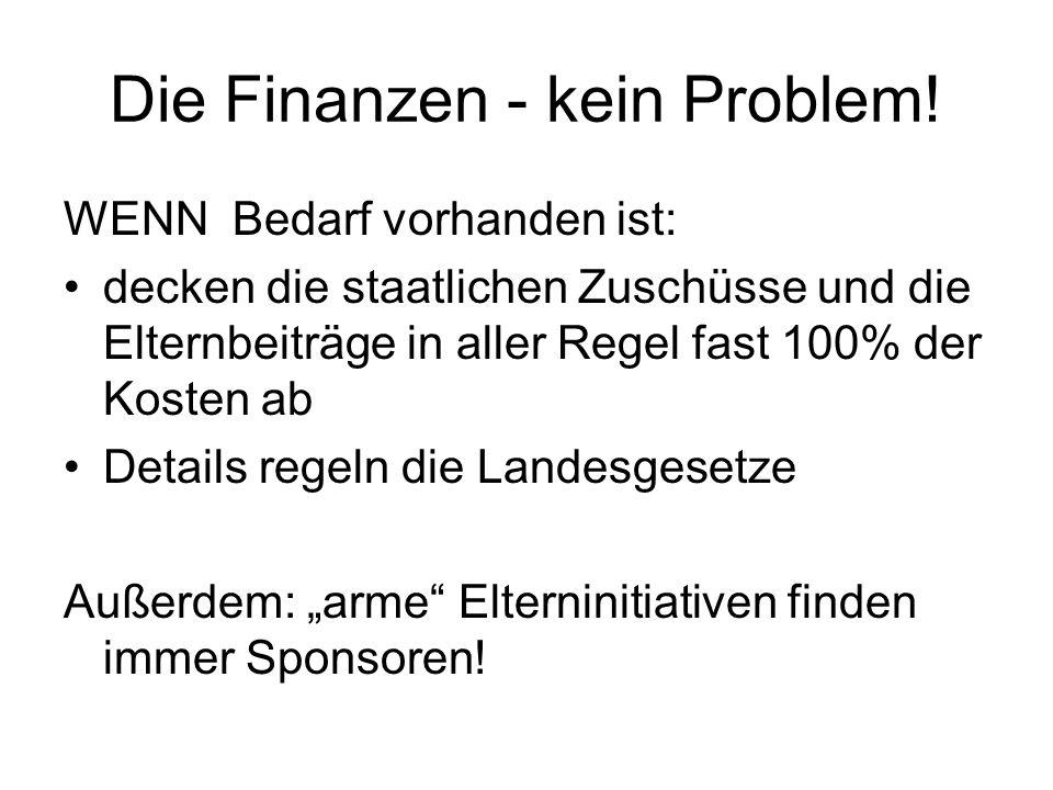 Die Finanzen - kein Problem.
