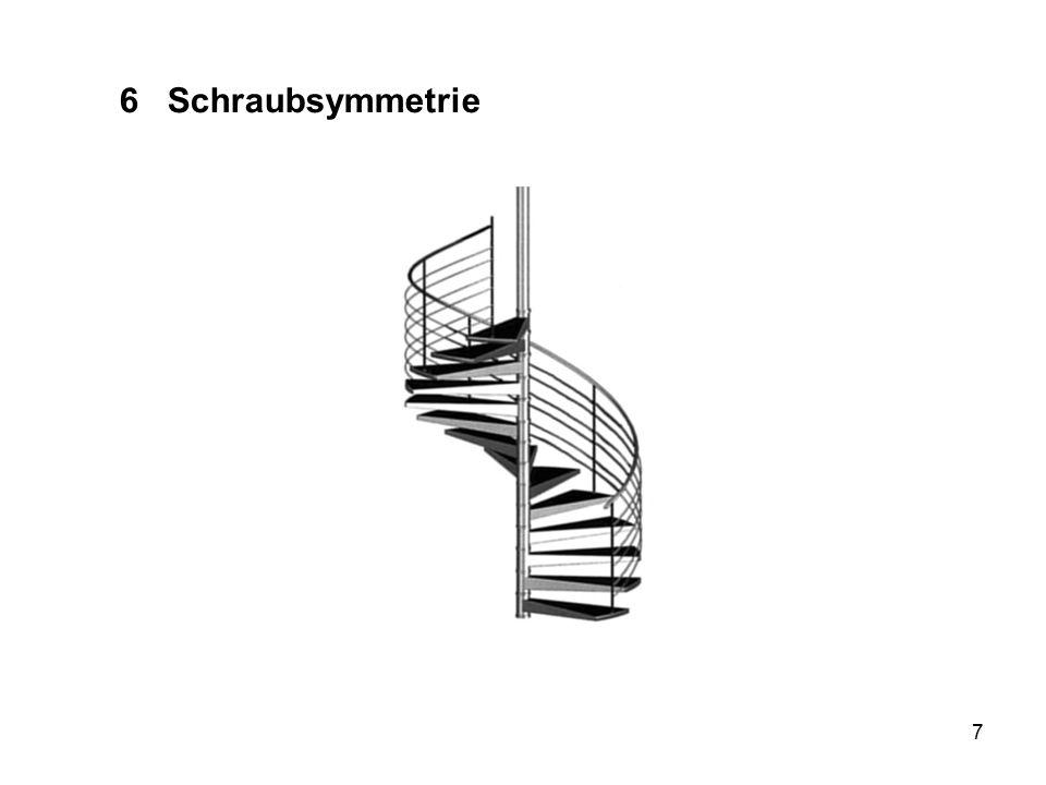 18 3 Schubsymmetrie Schm3, Schm4 Eine Figur heißt schubsymmetrisch, wenn es eine nichtidentische Verschiebung gibt, die die Figur auf sich abbildet.
