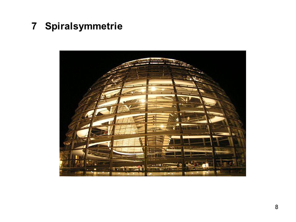 29 7 Spiralsymmetrie Beispiel(?): aufgerolltes Seil Berühmtes Beispiel: Nautilus Fruchtstand der Sonnenblume(?)