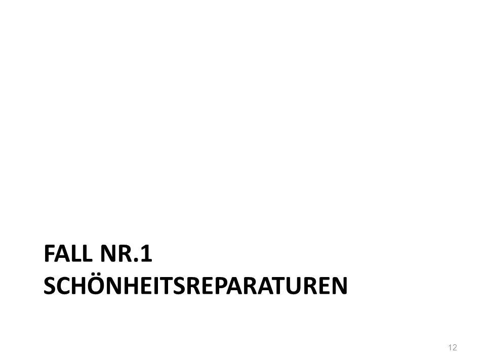 FALL NR.1 SCHÖNHEITSREPARATUREN 12