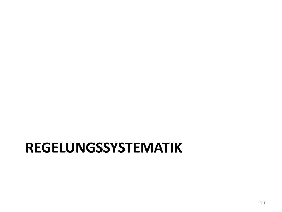 REGELUNGSSYSTEMATIK 19