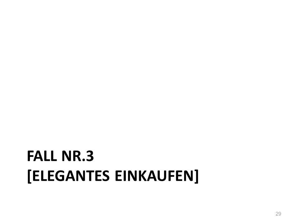 FALL NR.3 [ELEGANTES EINKAUFEN] 29