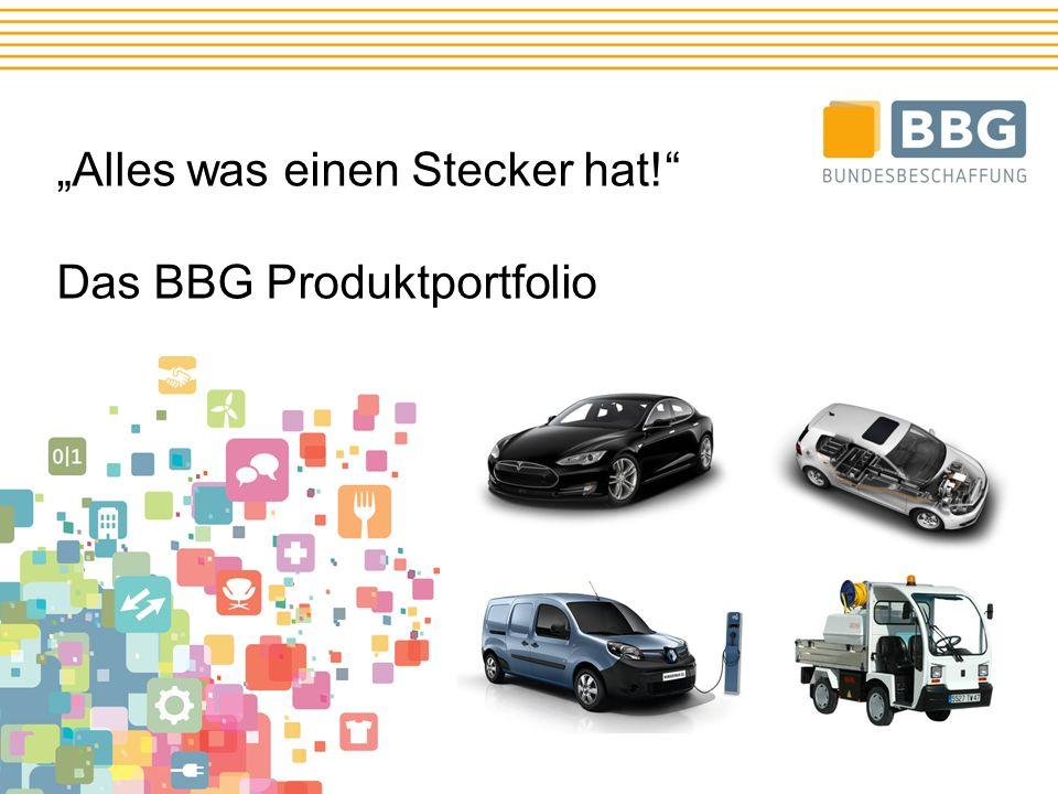 """""""Alles was einen Stecker hat! Das BBG Produktportfolio"""