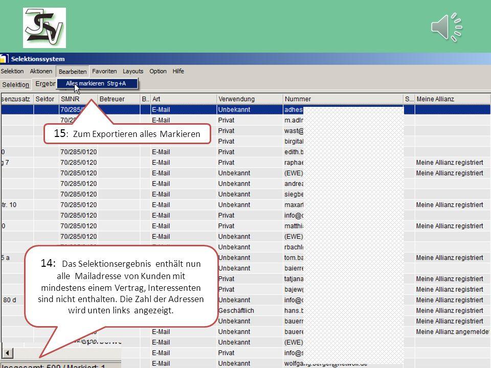 """7: Kundendaten öffnen 8: E-Mail wählen 9: E-Mail wählen 10: übernehmen 12: Layout """"Kommunikationsdaten wählen 11 : 2."""