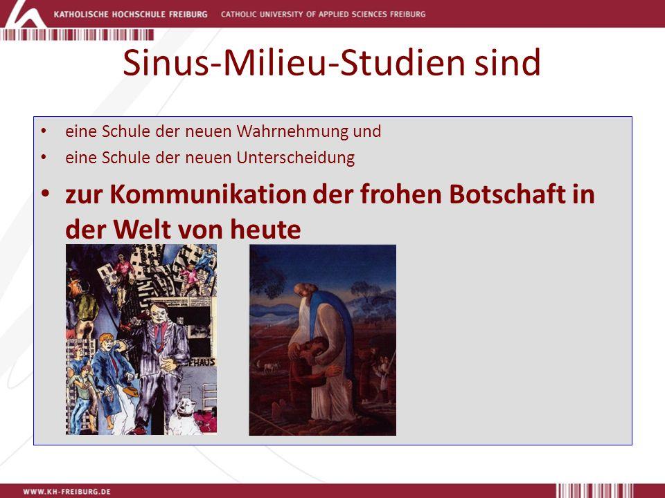 Sinus-Milieu-Studien sind eine Schule der neuen Wahrnehmung und eine Schule der neuen Unterscheidung zur Kommunikation der frohen Botschaft in der Welt von heute