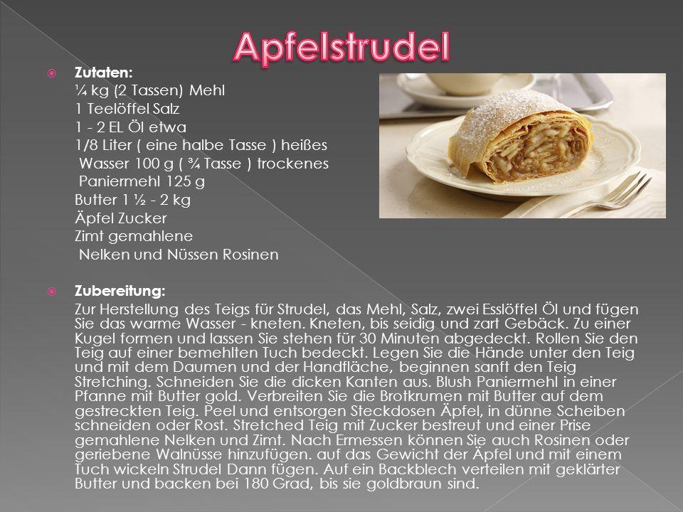 Österreich ist berühmt für seine wunderbare und leckere Kuchen und eine Vielzahl von Schokoladenprodukten.