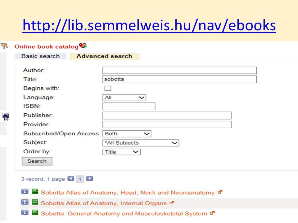 http://lib.semmelweis.hu/nav/ebooks