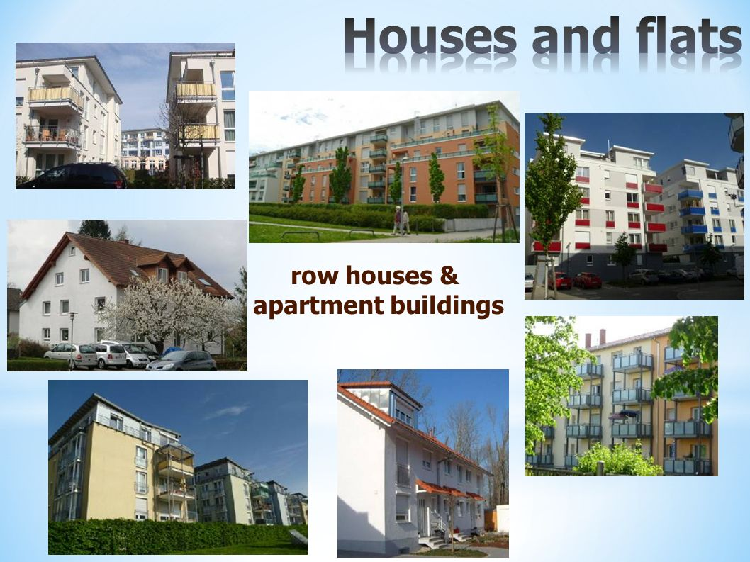 row houses & apartment buildings