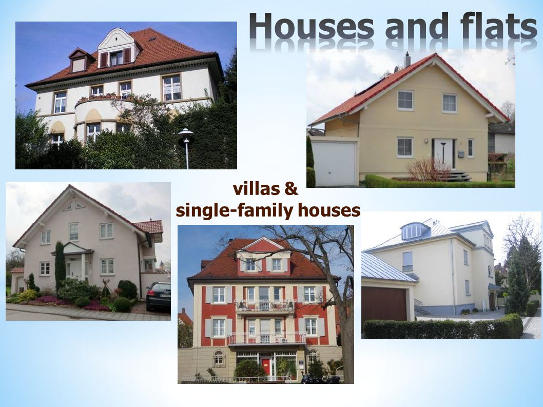villas & single-family houses